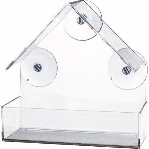 Utefuglautomat til vindusrute m/sugekopper 225ml 15x15x6cm
