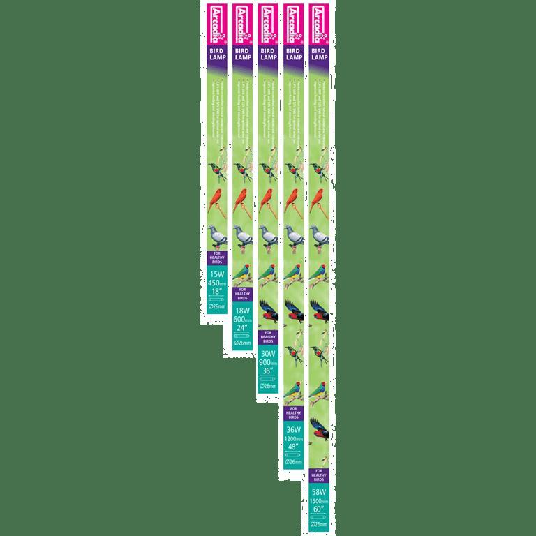 Fuglelysrør Arcadia 2.4UVB 12UVA
