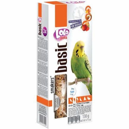 Lolo frøstang med frukt/egg/honning 3pk undulat