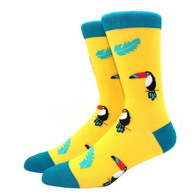Tucan sokk i gul og blå