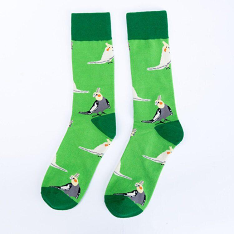Nymfeparakitt sokk grønn